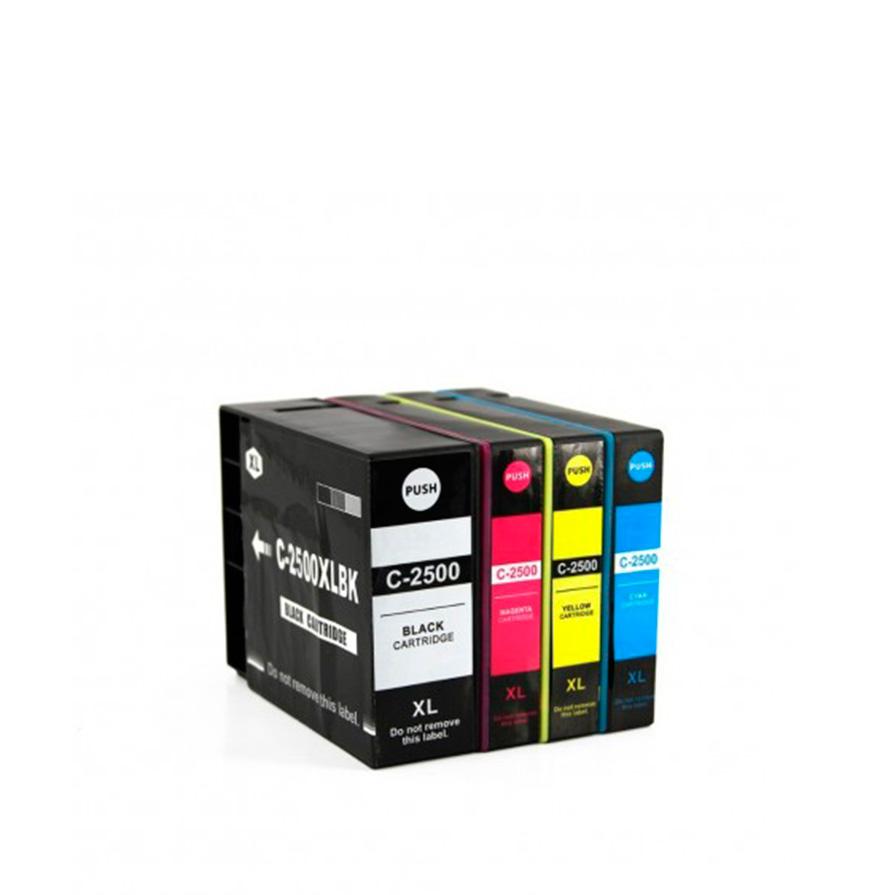 Pack 4 Tinteiros | Compatíveis com Canon PGI1500XL