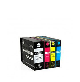 Pack 4 Tinteiros | Compatíveis com Canon PGI2500XL
