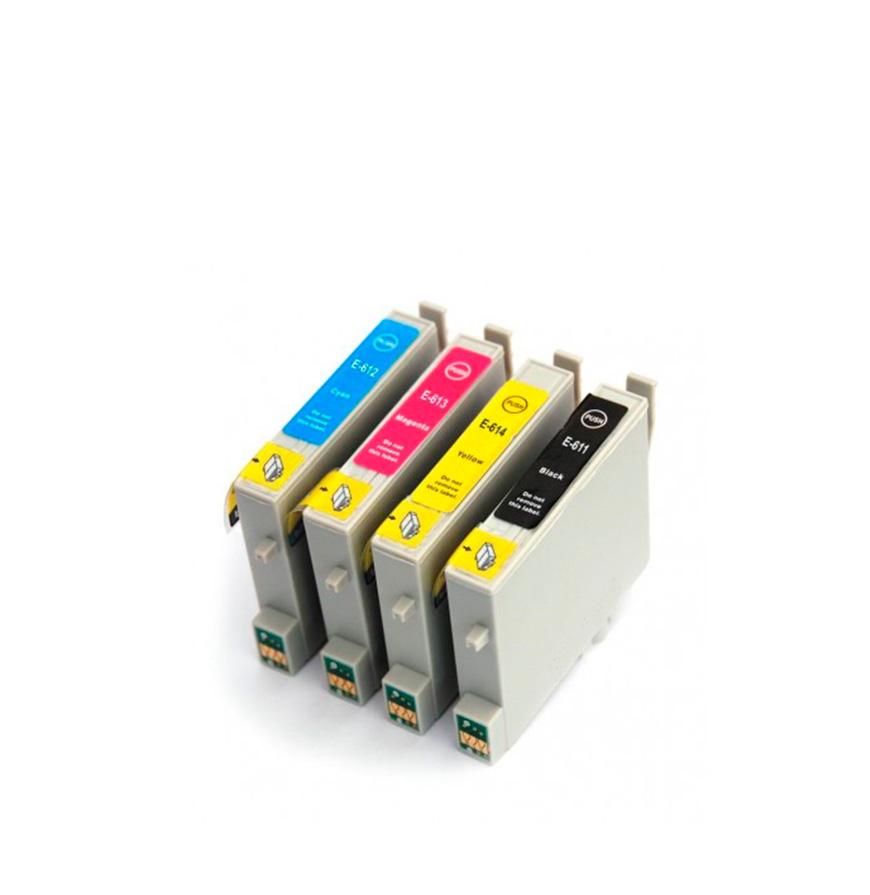 Pack 4 Tinteiros   Compatíveis com Epson T06154020