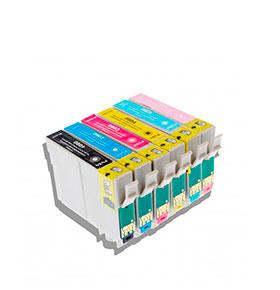 Pack de 6 Tinteiros | Compatíveis com Epson T0807