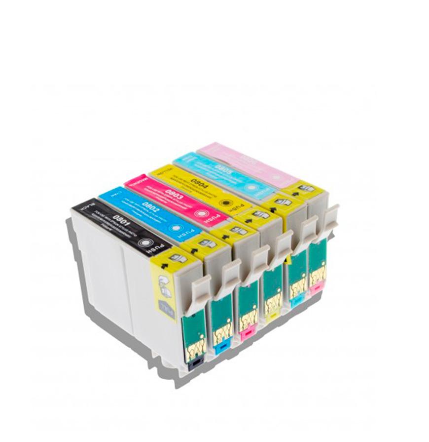 Pack 6 Tinteiros | Compatíveis com Epson T0807