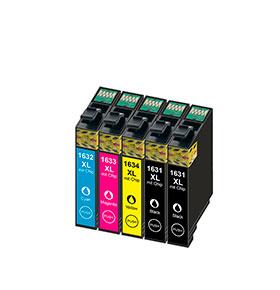 Pack de 4 Tinteiros | Compatíveis com Epson T16364010
