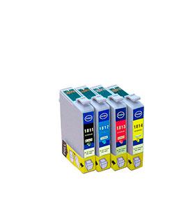 Pack de 4 Tinteiros | Compatíveis com Epson T18164010