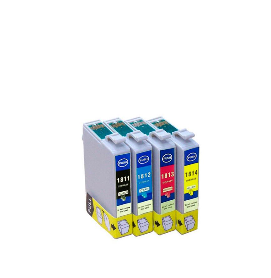 Pack 4 Tinteiros   Compatíveis com Epson T18164010