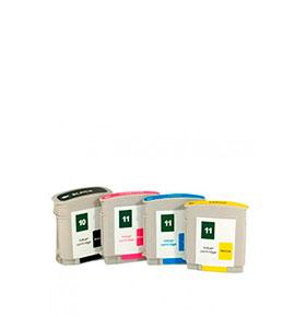 Pack de 4 Tinteiros | Compatíveis com HP Nº10+Nº11