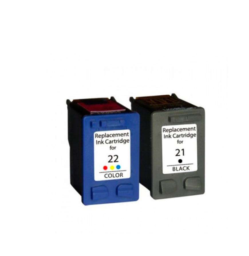 Pack 2 Tinteiros   Compatíveis com HP Nº21XL+Nº22XL