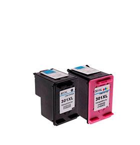 Pack de 2 Tinteiros | Compatíveis com HP Nº300XL BK+Cores