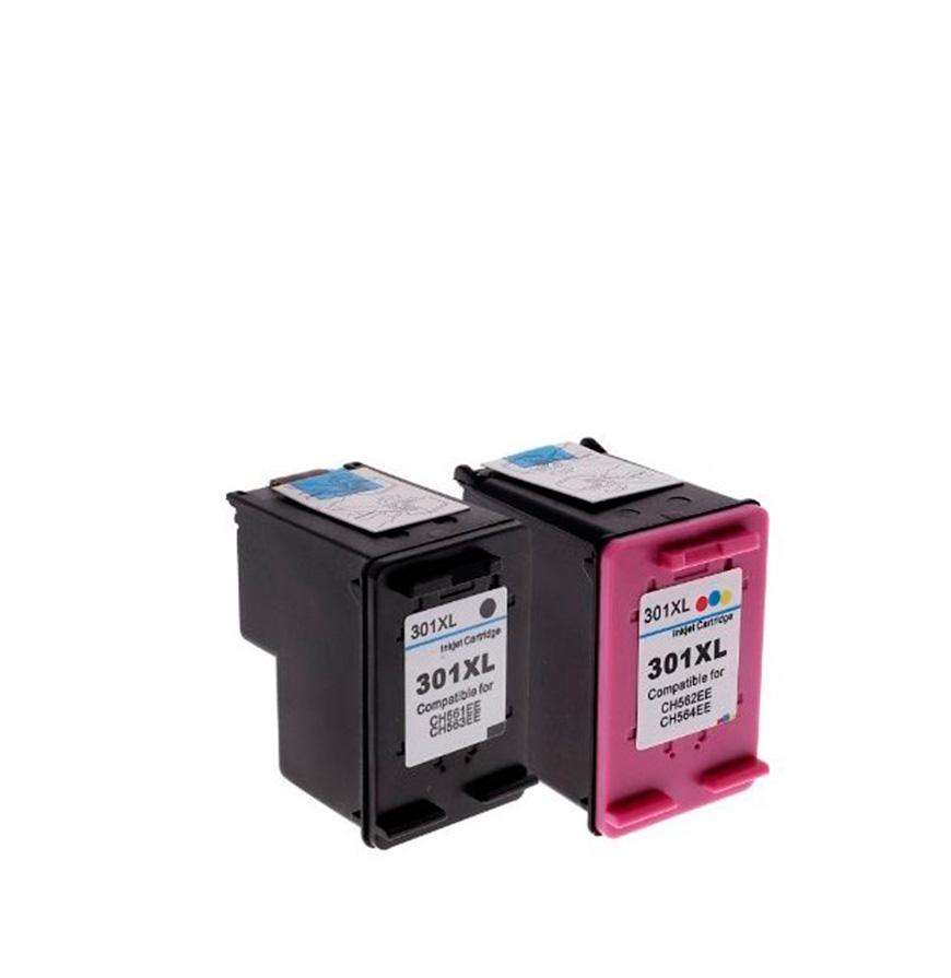 Pack 2 Tinteiros | Compatíveis com HP Nº300XL BK+Cores