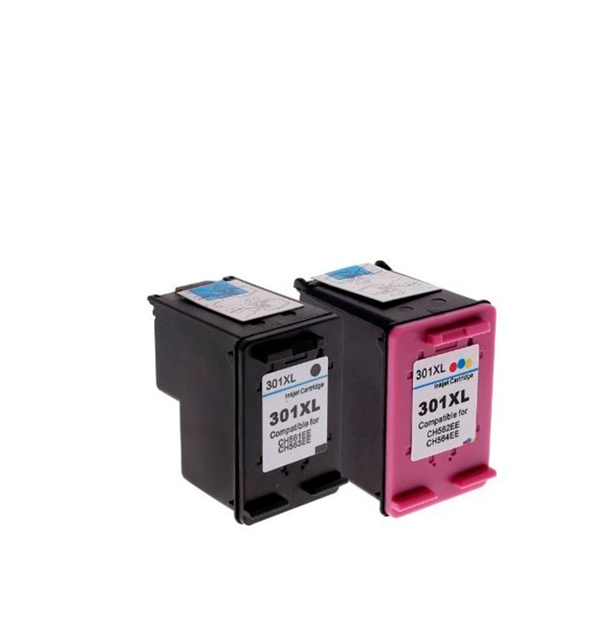 Pack 2 Tinteiros   Compatíveis com HP Nº301XL BK+Cor
