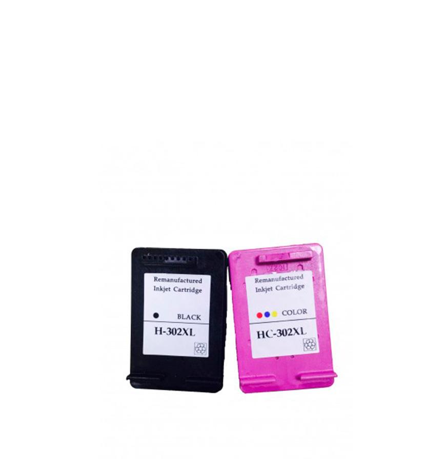 Pack 2 Tinteiros | Compatíveis com HP Nº302XL Bk+Cor