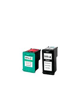 Pack de 2 Tinteiros | Compatíveis com HP Nº350XL+351XL
