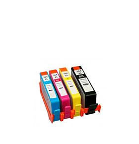Pack de 4 Tinteiros | Compatíveis com HP Nº364XL