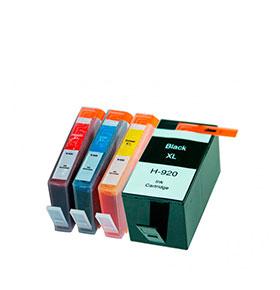 Pack de 4 Tinteiros | Compatíveis com HP Nº920XL