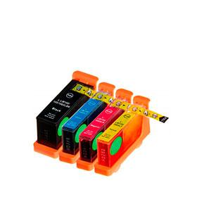Pack de 4 Tinteiros | Compatíveis com Lexmark Nº100XL