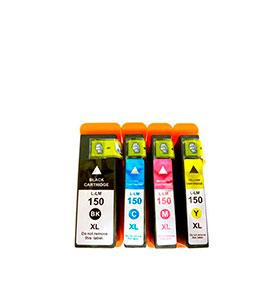 Pack de 4 Tinteiros | Compatíveis com Lexmark Nº150XL
