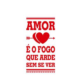 Vinil Amor é Fogo | 30 x 58cm