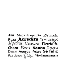 Vinil Acredita | 50 x 100cm