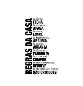 "Vinil Regras da Casa ""Se…""  | 50 x 100cm"