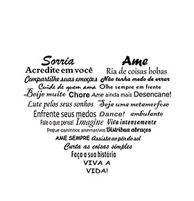 Vinil Coração Amor | 70 x 56cm