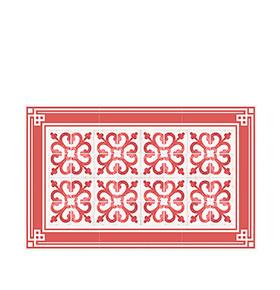 Tapete de Vinil Floorart® Ramblas Branco e Vermelho