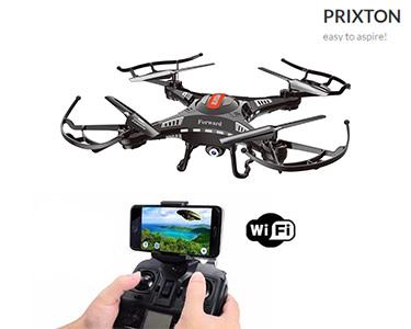 Drone com Câmara Prixton® | Wifi, 3 Baterias & Rotação 360°
