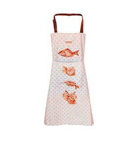 Avental de Cozinha Retro Peixe com Bolso Duplo