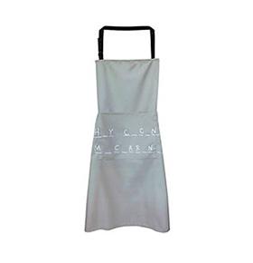 Avental de Cozinha Letras com Bolso Duplo Cinza