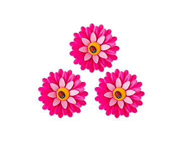 Conjunto de 3 Imans Vigar® Flower Power | Escolha a Cor