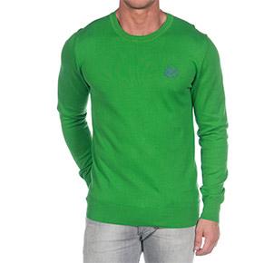 Camisola Verde com Colarinho Redondo