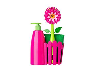 Set de Cozinha c/ Dispensador Vigar® Flower Power | Escolha a Cor