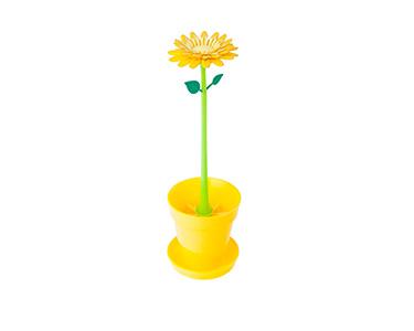 Escova c/ Ventosa e Apoio Vigar® Flower Power | Escolha a Cor