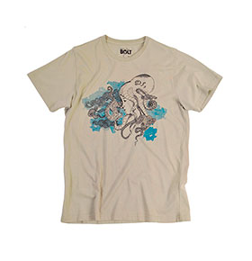 T-shirt Lightning Bolt® | Bege Octo Head Tee