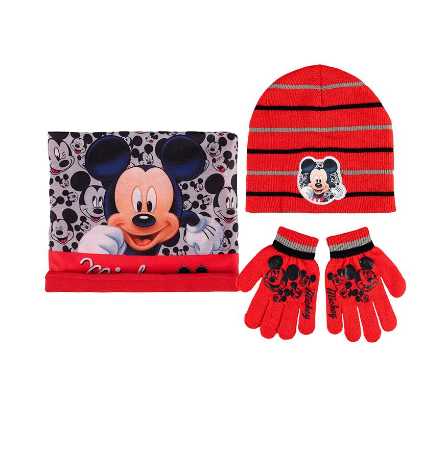 Conjunto 3 Peças Mickey | Vermelho