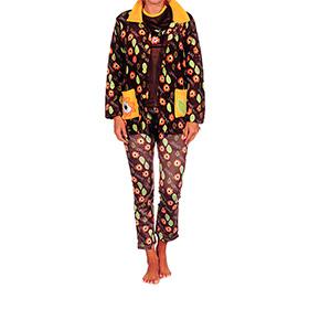Conjunto Pijama e Casaco Cucuc | Castanho