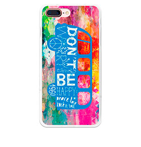 Capa de Gel BeCool® iPhone 7 Plus | Felicidade Hippie