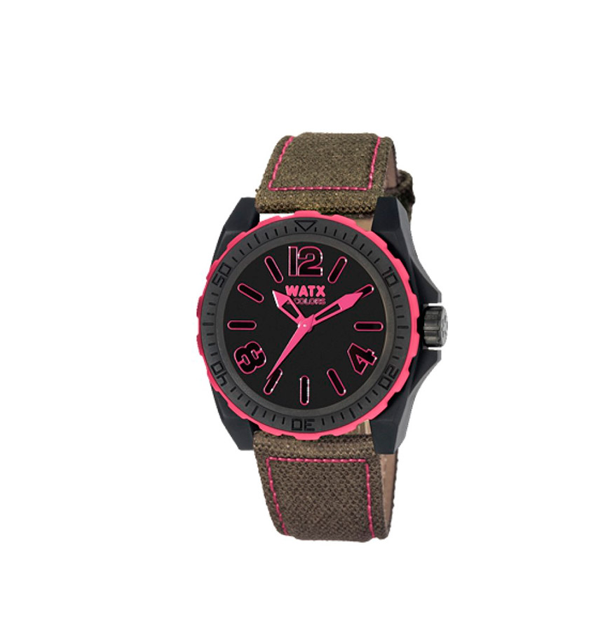 Relógio Watx & Colors® BlackOut | Castanho e Rosa