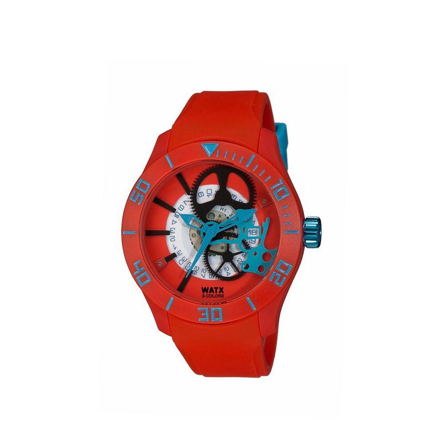 Relógio Watx&Colors® Skeleton Rock in Rio   Vermelho
