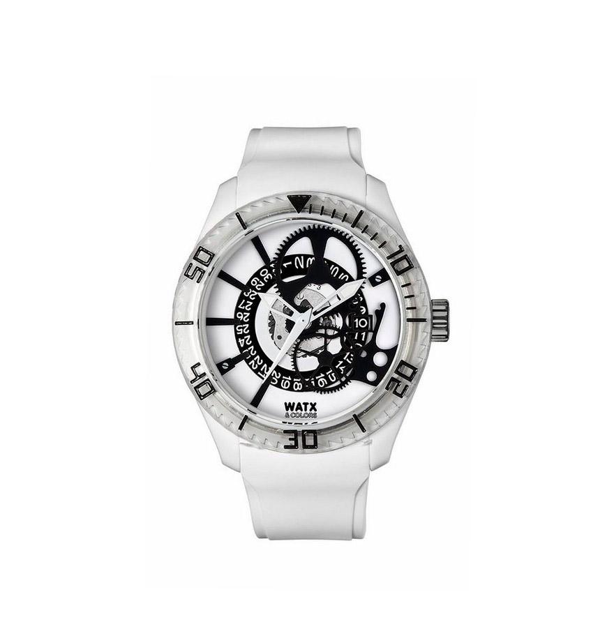 Relógio Watx & Colors® Skeleton | Branco