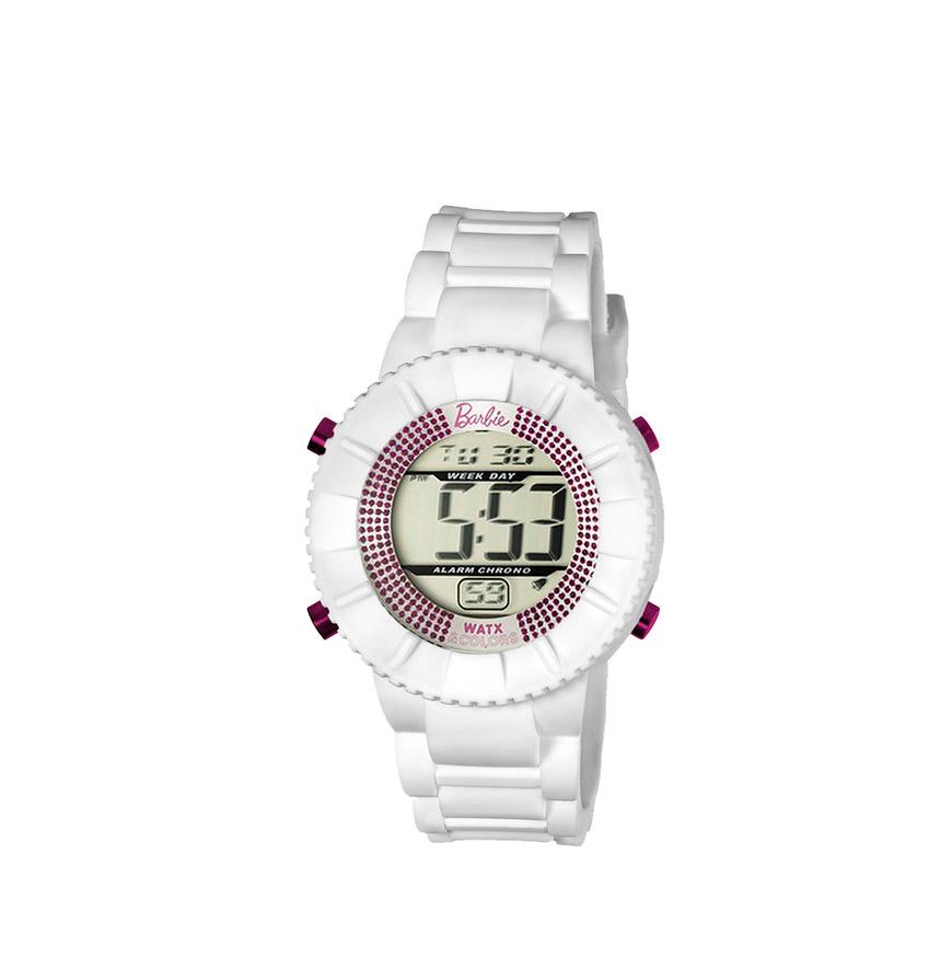 Relógio Watx & Colors® Barbie Kids Digital | Cristais Rosa