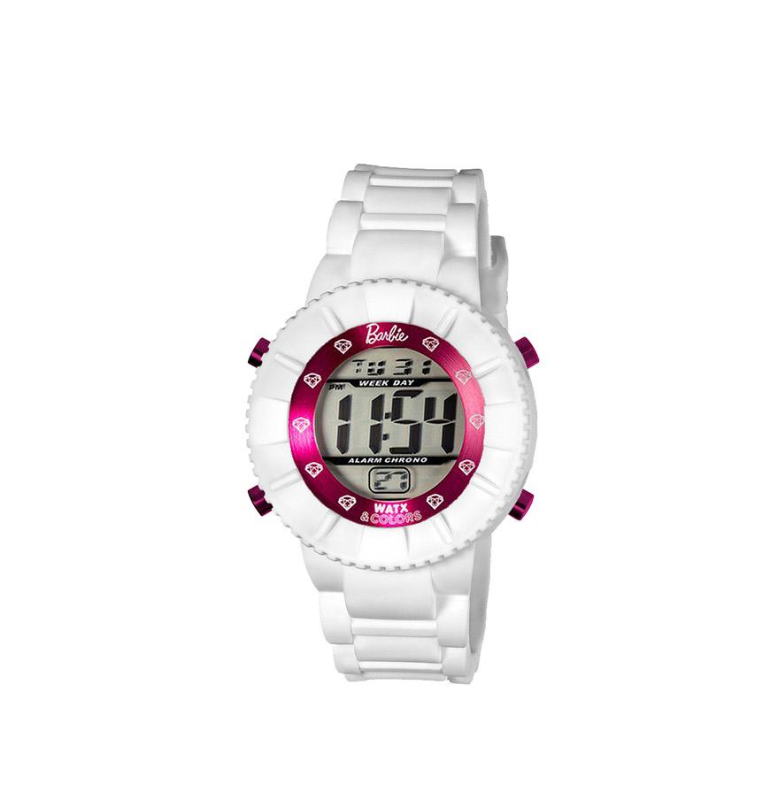 Relógio Watx & Colors® Barbie Kids Digital | Corações Rosa