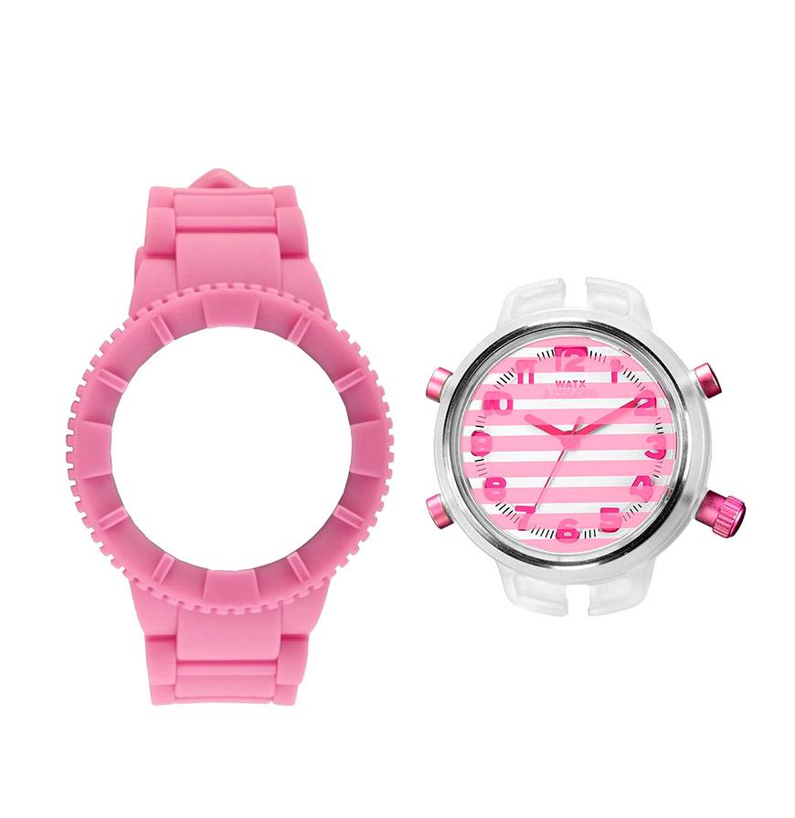 Relógio Watx & Colors® M Stripes | Rosa