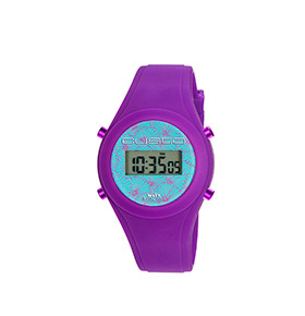 Relógio Watx & Colors® Custo Digital Simples   Azul e Roxo
