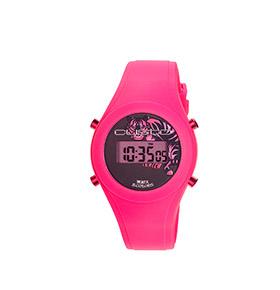 Relógio Watx & Colors® Custo Digital Tigre   Rosa