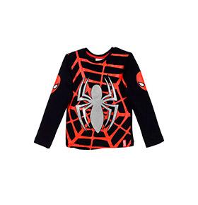 Camisola Spider- Man | Preto e Vermelho