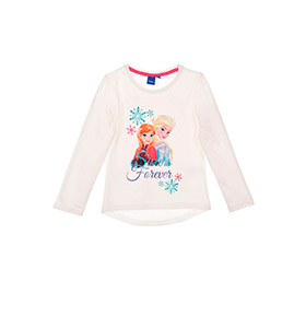 Camisola Frozen Sisters Forever | Branco