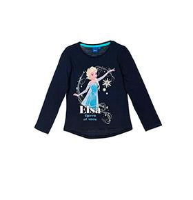 Camisola Frozen Elsa | Azul Marinho