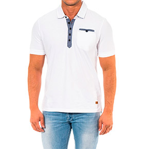 Polo Napapijri® Branco e Denim