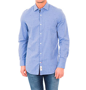 Camisa Napapijri® Azul com Padrão