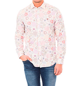 Camisa Napapijri® Branco Multicolor