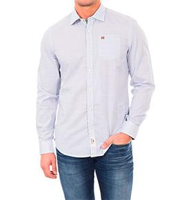 Camisa Napapijri® Branco Celeste